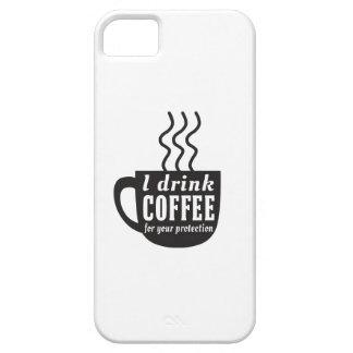 Bebo el café para su protección iPhone 5 funda