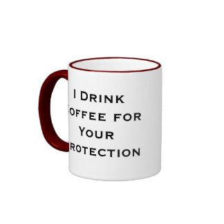 Bebo el café para su taza de café de la protección