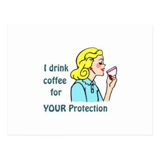 Bebo el café postal