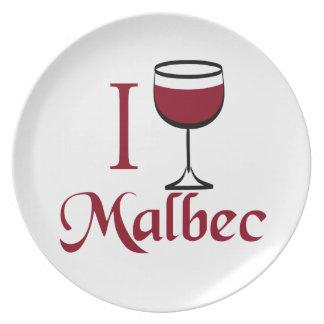 Bebo el vino del Malbec Plato Para Fiesta