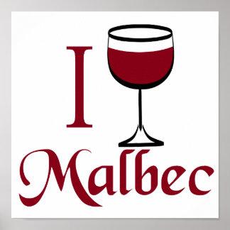 Bebo el vino del Malbec Póster