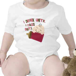 Bebo hasta que pase hacia fuera trajes de bebé