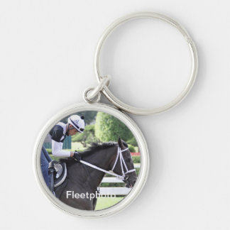 Bebo Morales training at Saratoga Silver-Colored Round Keychain