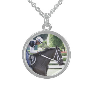Bebo Morales training at Saratoga Sterling Silver Necklace