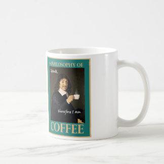 Bebo, por lo tanto estoy taza de café