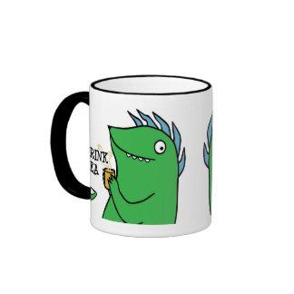 Bebo té -- tazas