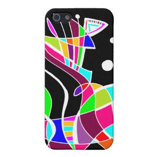 BeBop Color Splash on Black Cover For iPhone 5