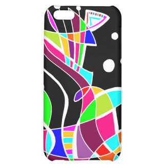 BeBop Color Splash on Black Cover For iPhone 5C