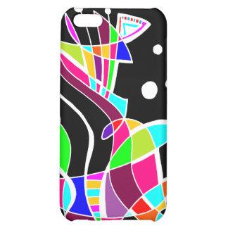 BeBop Color Splash on Black Case For iPhone 5C