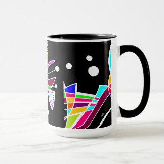 BeBop Color Splash on Black Mug