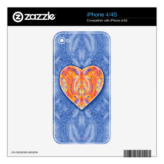 Bebopo Heart Phone Skin Decals For iPhone 4S