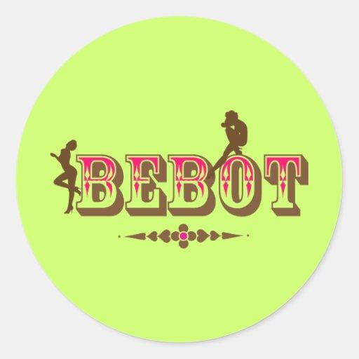 Bebot + Babae + Orgullo de Pinoy de las mujeres Pegatina Redonda