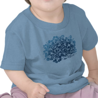 Bebot - hibisco - azul camisetas