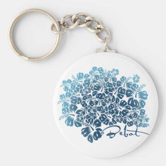 Bebot - Hibiscus - Blue Keychain