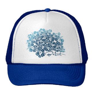 Bebot - Hibiscus - Blue Trucker Hat