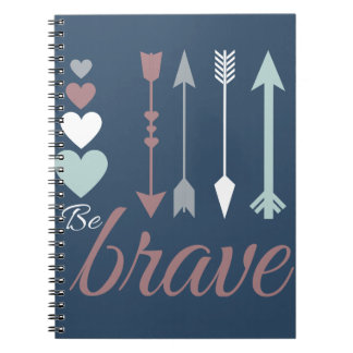 BeBrave Notebook with Arrows and Hearts