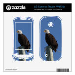 BEBS Bald Eagle Blue Sky Skin For LG Cosmos Touch