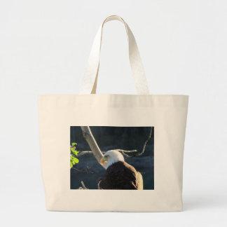 BEC Bald Eagle Contemplation Large Tote Bag