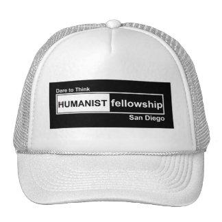 Beca del humanista blanco y negro gorros bordados