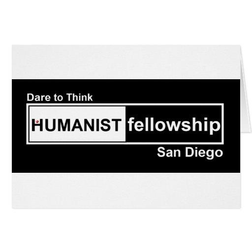 Beca del humanista blanco y negro tarjetas