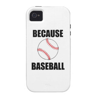 Because Baseball iPhone 4/4S Cases