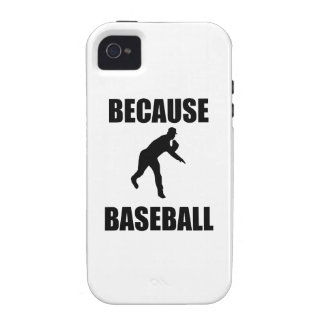 Because Baseball Case-Mate iPhone 4 Case