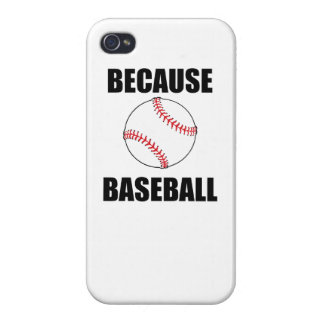 Because Baseball Case For iPhone 4
