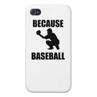 Because Baseball Cover For iPhone 4