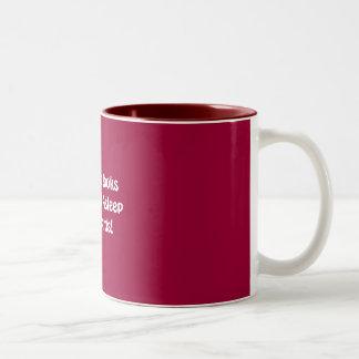 Because Books Don't Fall Asleep Afterwards! Two-Tone Coffee Mug