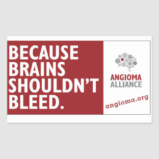 Because Brains Shouldn't Bleed Rectangular Sticker