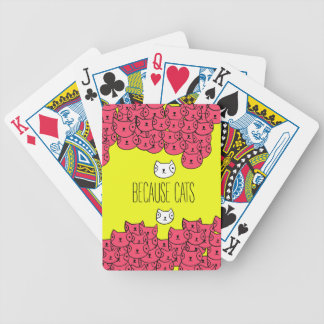 Because cats - cat gang bicycle playing cards