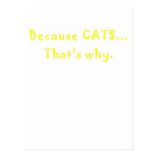 Because Cats Thats Why Postcard