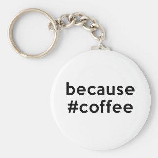 Because Coffee Key Chains