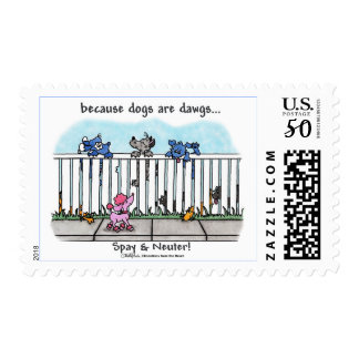 Because Dogs are Dawgs Postage