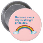 Because every day is Straight Pride day Pin