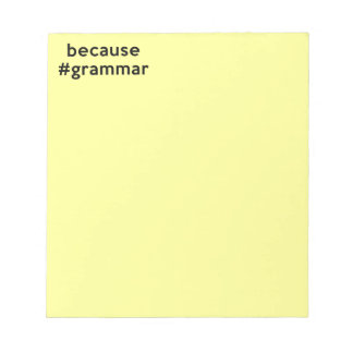 Because Grammar Notepad