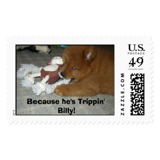 Because he's Trippin' Billy Postage