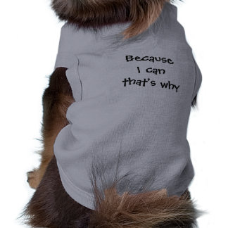 Because I can that's why Shirt