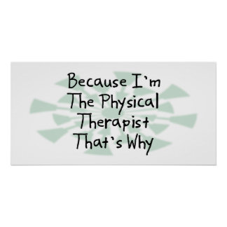 Because I m the Physical Therapist Print