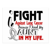 Because I Need My Aunt Lung Cancer Postcard