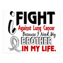 Because I Need My Brother Lung Cancer Postcard