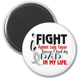 Because I Need My Dad Lung Cancer Magnet