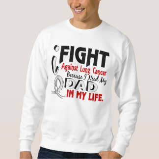 Because I Need My Dad Lung Cancer Sweatshirt