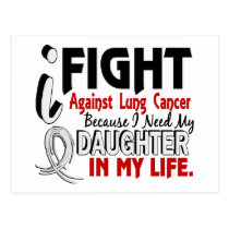 Because I Need My Daughter Lung Cancer Postcard