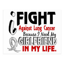 Because I Need My Girlfriend Lung Cancer Postcard