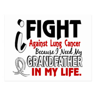 Because I Need My Grandfather Lung Cancer Postcard