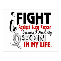 Because I Need My Son Lung Cancer Postcard