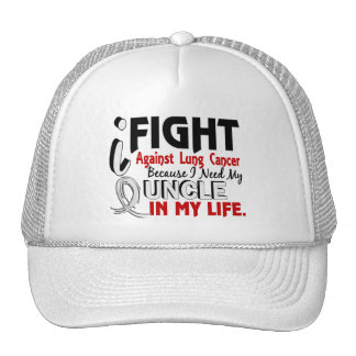 Because I Need My Uncle Lung Cancer Mesh Hats