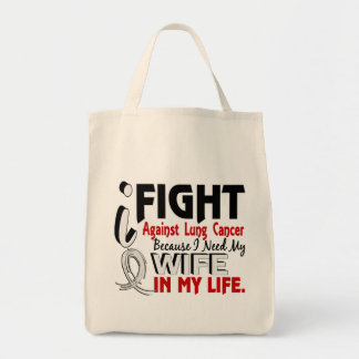 Because I Need My Wife Lung Cancer Tote Bag
