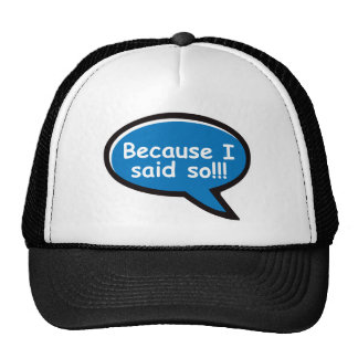 Because I Said So - Blue Trucker Hat